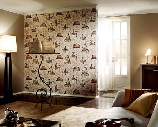 образцы обоев для зала в квартире фото
