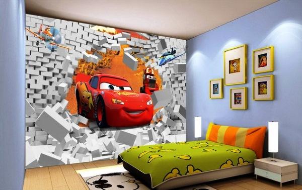 3д обои для детской комнаты фото