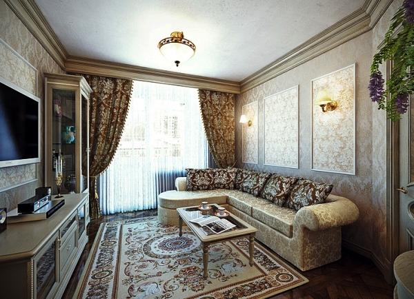 обои для маленькой гостиной комнаты фото 12