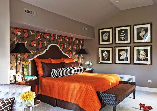 Идеи поклейки обоев в спальне фото