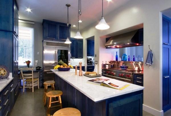 Обои для синей кухни фото
