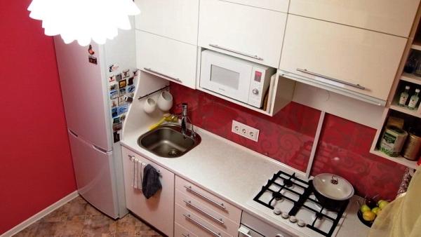 Оклейка кухни обоями фото