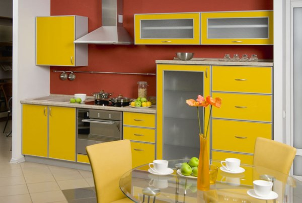 цвет обоев для кухни фото 3