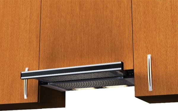 встроенная вытяжка для кухни 60 см фото