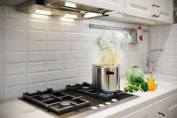 встроенная вытяжка для кухни фото