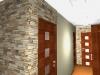 Декоративный камень в коридоре: фото