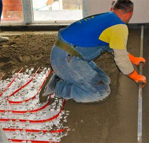 Монтаж теплых полов в бетонной стяжке инструкция по монтажу