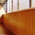 бамбуковые обои на балконе
