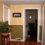дизайн комбинированных обоев для коридора фото